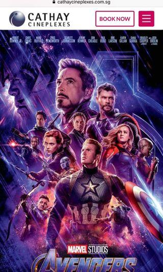 🚚 AVENGERS END GAME TICKETS X 2