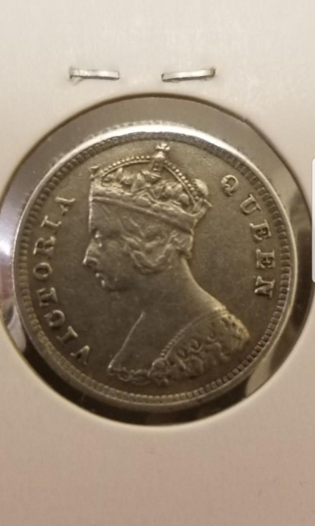 """1895年""""極靚品""""英女皇維多利亞一毫幣"""