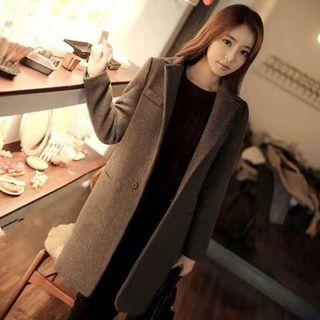 🚚 韓版雙面毛呢修身保暖顯瘦大衣#半價衣服拍賣會