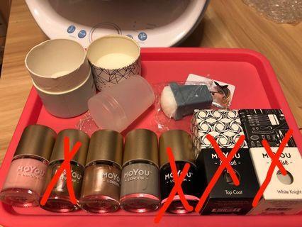 Moyou stamp and polish 指甲油