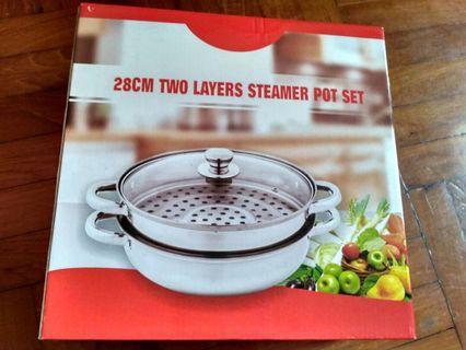 28cm Two Layer Steamer Pot Set