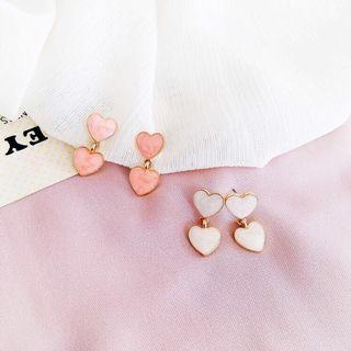 Sweet Heart Earrings from Korea (White)