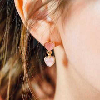 Sweet Heart Earrings from Korea (Pink)