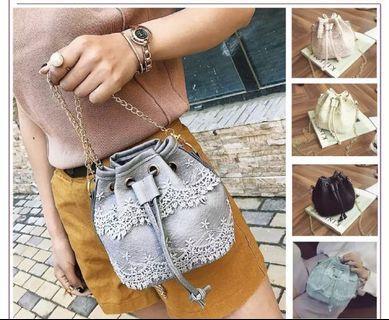 Lace Sling Bag