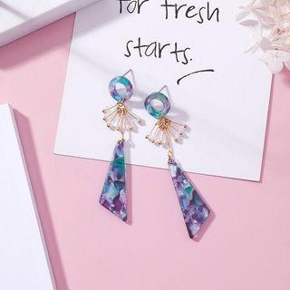 Crystal Amber Earrings from Korea (Purple)