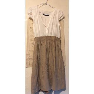 🚚 Zara Basic 法式女子 V領雪紡連身洋裝 XS #半價衣服拍賣會