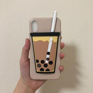 READY 3D bubble tea case for iPhone X