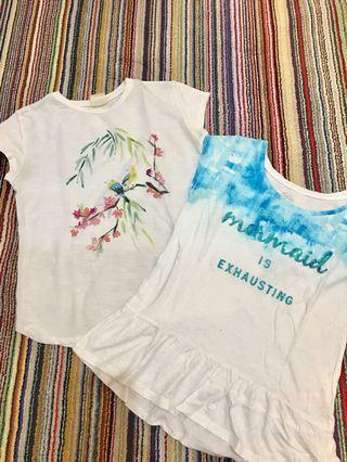 Buy 1 get 1 free zara tshirt and justice tshirt
