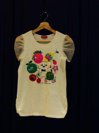 🚚 Why and 1/2 (size:15) 媽咪T恤、側邊抓皺有腰身