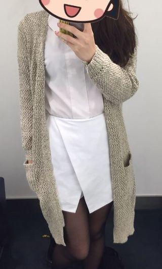 Topshop 不規則 氣質 白色 裙褲