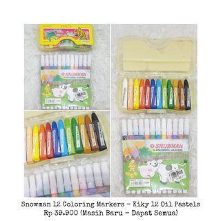 Snowman spidols & kiky crayons