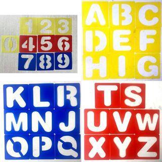 🚚 Alphabet number stencil