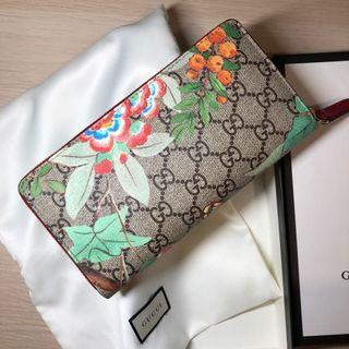 Gucci butterfly & flowers printed long wallet 印花拉鍊長銀包