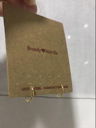 Brandy Melville Gold Hoops