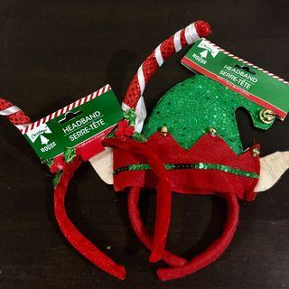 Lot of 2 Christmas Headbands