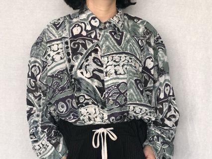 🚚 復古長袖襯衫(材質涼)