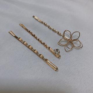 Gold Hairpins/Hairclips