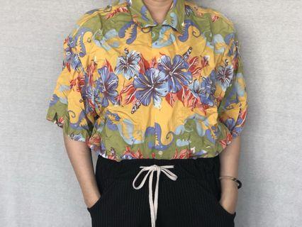 🚚 復古花襯衫