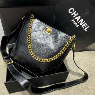 Chanel Bucket Bag Black with Gold Hardware