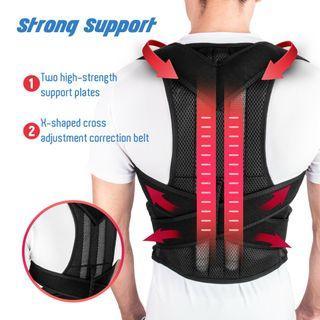 Back Posture Magnetic Shoulder Corrector Support Brace Belt Therapy Men Women Heavy Duty
