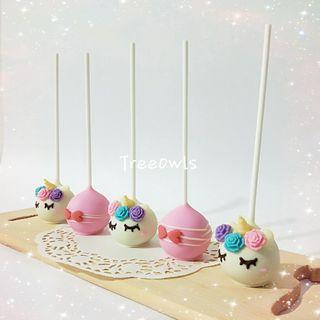 Unicorn Theme Cake Pop 🌈