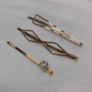 Gold Hairpins/Hair clips