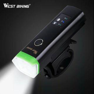 🚚 Bike Front Light Induction Bicycle Bright Light USB Charging Flashlight Cycling Waterproof Torch Bike Headlight
