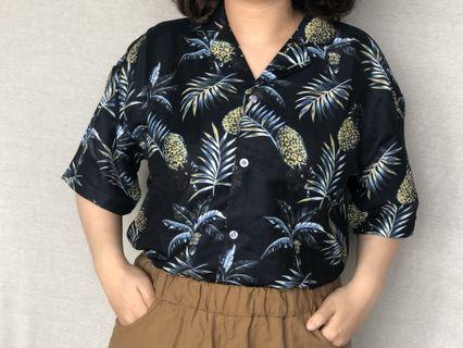 🚚 熱帶風短袖襯衫(全新)