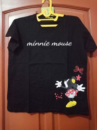 Kaos minnie mouse hitam
