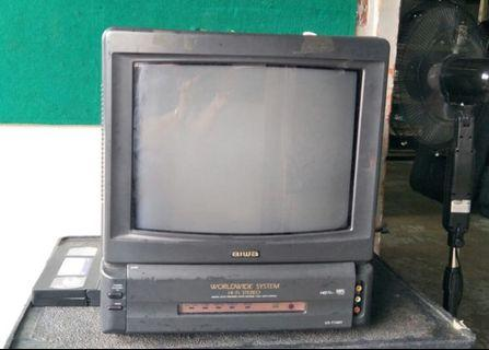 "Aiwa 14"" TV with VCR for sale(4pcs)"