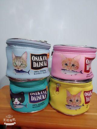 可愛💕貓咪罐頭化妝包單入