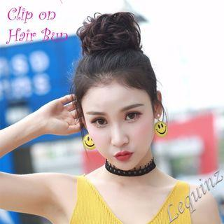 🚚 50% OFF ! Curly Clip On Hair Bun Wedding DND Dance