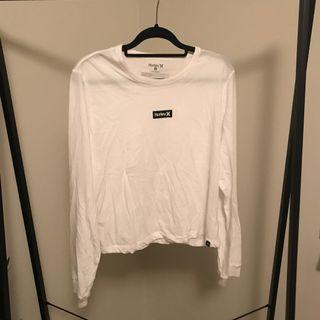 Hurley White Long Sleeve Top