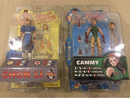 SOTA Street Fighter Chun Li and Cammy MOC Action Figure Set