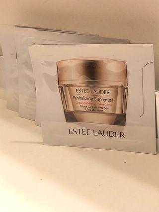 HK$7/1.5ml/包 Estee Lauder Revitalizing Supreme+ Global Anti-Aging Cell Power Creme 升級新生活膚全能面霜。 有4包。