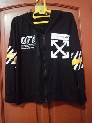 Jaket OFF White hitam