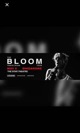 Bloom World Tour Singapore (Troye Sivan) Cat 5 Side-by-Side Tickets