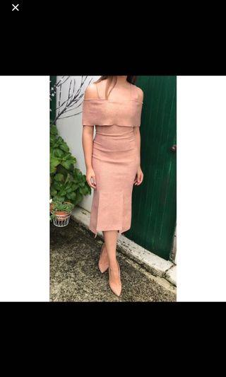 NEGOTIABLE. Nude/pink dress