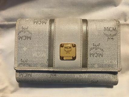 MCM wallet (淺灰色)