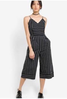 Something Borrowed Striped Midi Jumpsuit