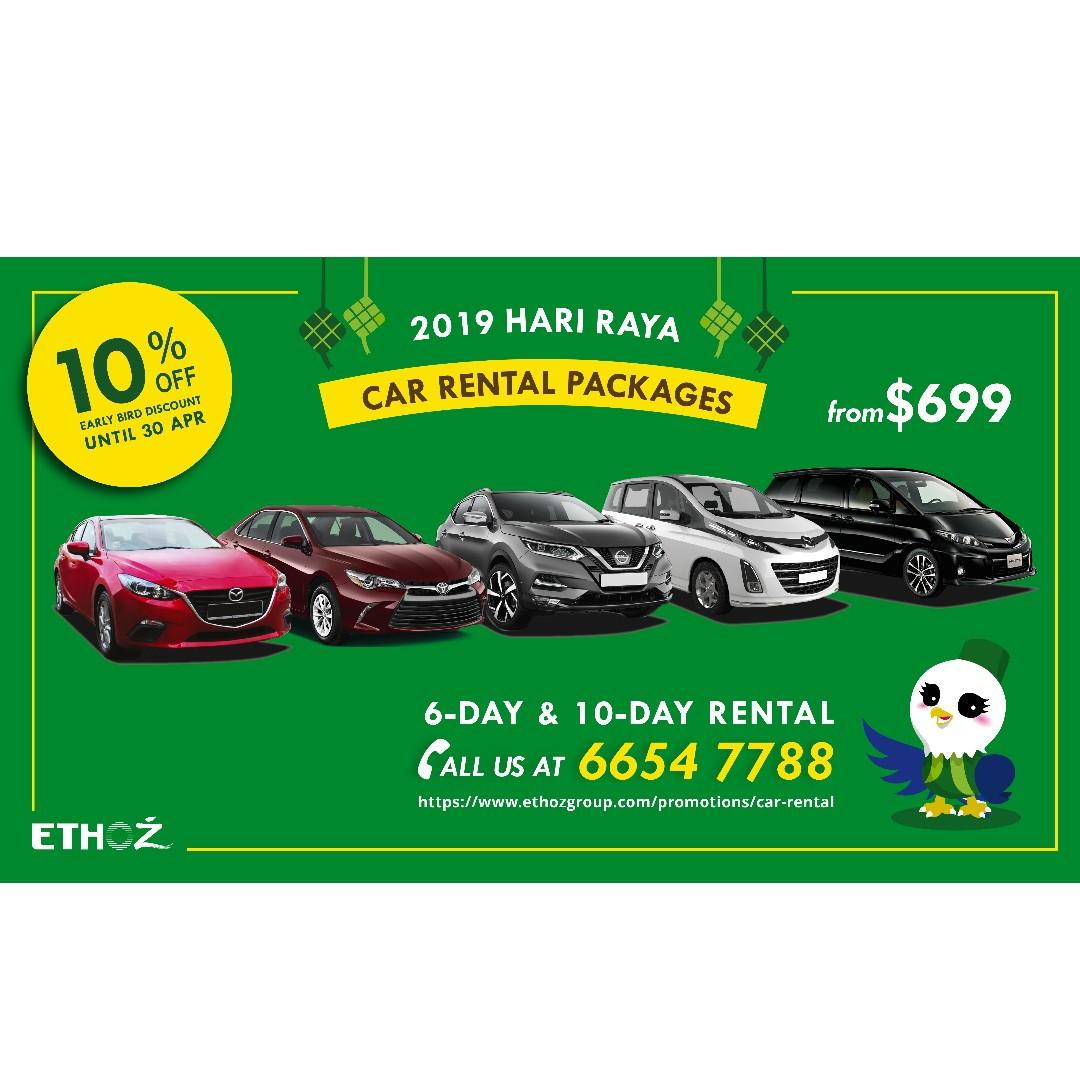 2019 Hari Raya Car Rental Promo
