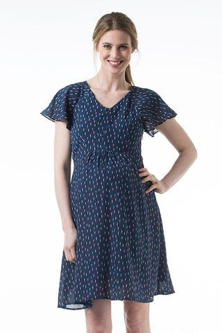 Bove Maternity Clarice Dress Navy Print