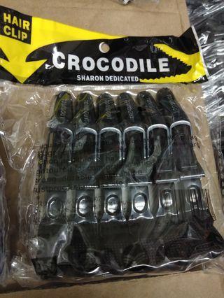 Crocodile hair clip isi 6