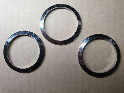Rolex Daytona stainless steel bezels, 16520, 116520, zenith daytona, el primero