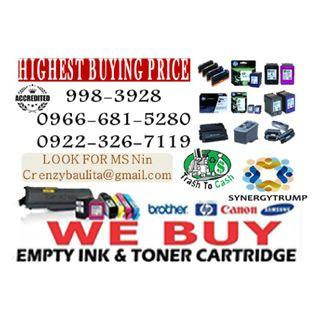 Brand new Expired We Buy Buyer of Empty Ink Cartridges and Toner
