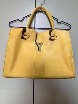 HALLOWEEN 黃色YSL轉印手提側背兩用包(附背帶)