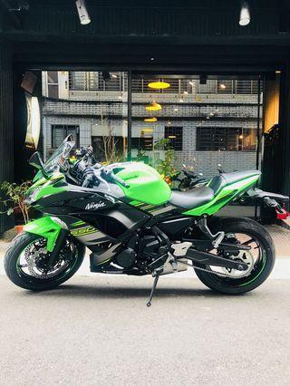 2019年 Kawasaki Ninja 650 ABS 忍者 只跑一百多公里 可分期 免頭款 歡迎車換車 網路評價最優 業界分期利息最低 忍6 ER6F Z650 忍者650 可參考