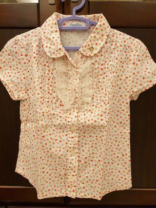 🚚 麗嬰房~Familiar愛心小熊刺繡襯衫(6號)