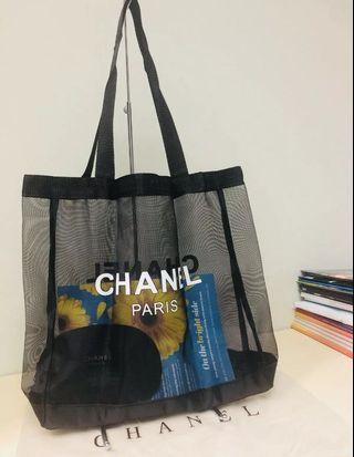 Chanel Vip Gift Mesh bag and pouch