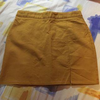 韓國芥辣黃色短裙